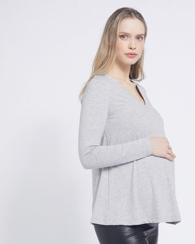 Savida V-Neck Flared Maternity Top