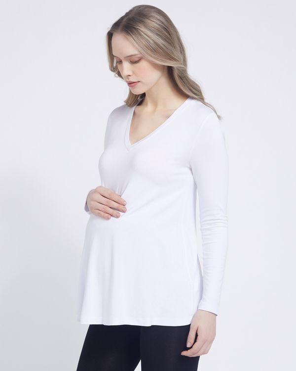 Savida Maternity V-Neck Flared Top