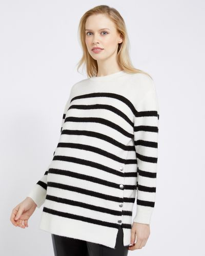 Savida Maternity Stripe Jumper With Snap Sides