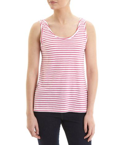 pinkStripe Cotton Slub Vest