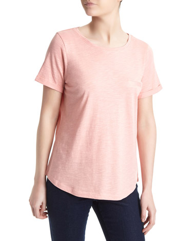 coralCotton Modal Slub T-Shirt