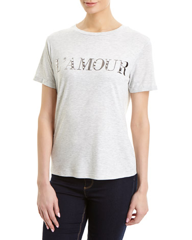 grey Amour Pearl T-Shirt