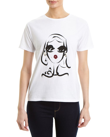 white Lady Pearl T-Shirt