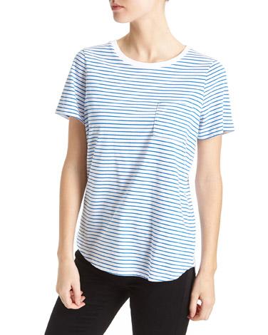 blueStriped Boxy T-Shirt