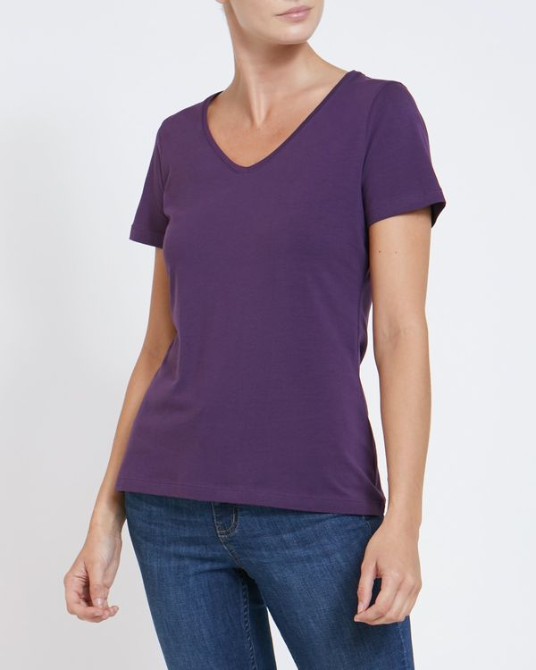Stretch V-Neck T-Shirt