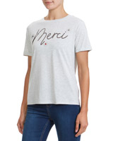 grey Merci Embellished T-Shirt