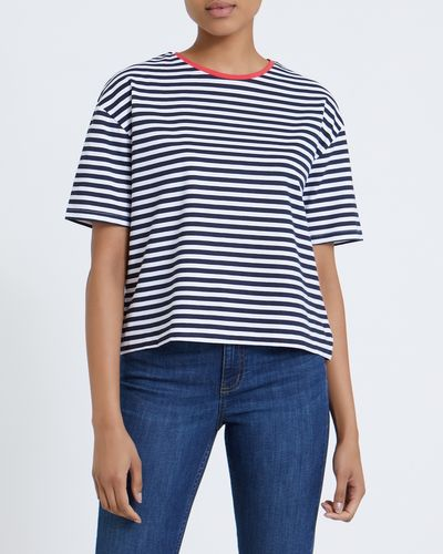 Nautical Printed Crop T-Shirt
