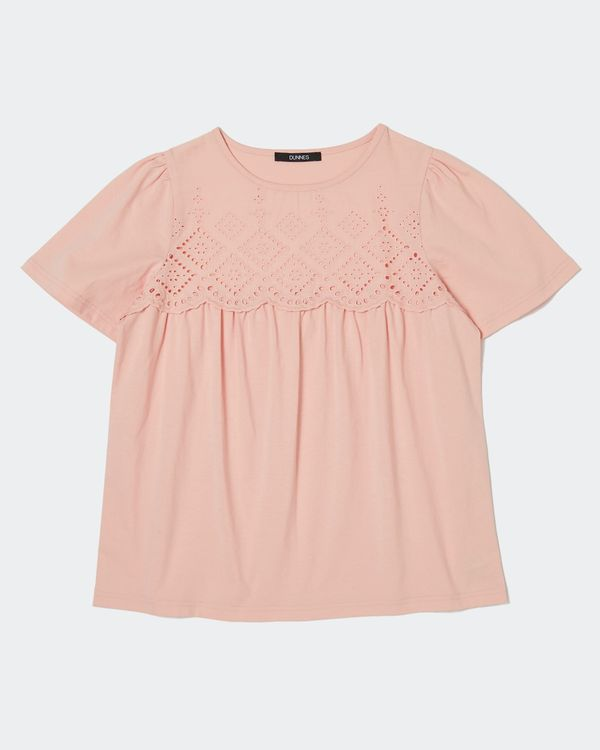 Broderie Ruffle Top
