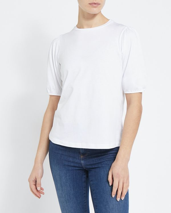 Puff Sleeve Cotton T-Shirt
