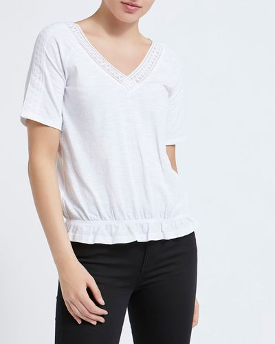 Lace V-Neck T-Shirt thumbnail