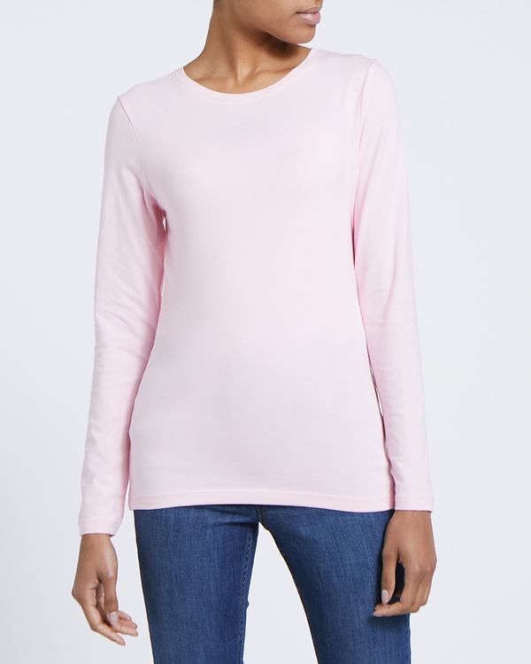 Long Sleeve Stretch Crew-Neck Top