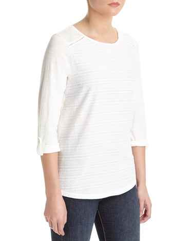 winter-whiteEmbroidered Front Top