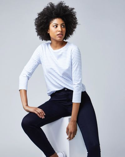 Stripe Stretch Long Sleeve Top thumbnail