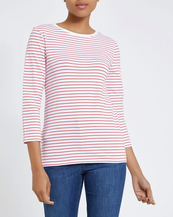 Stripe Stretch Long Sleeve Top