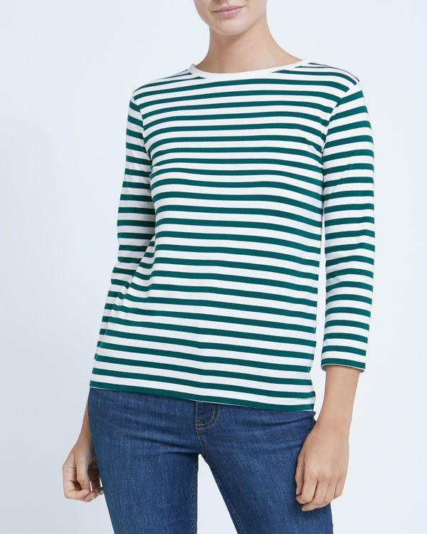 Stripe Stretch Long Sleeve Top