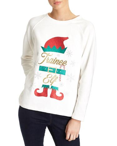 creamElf Christmas Sweat Top
