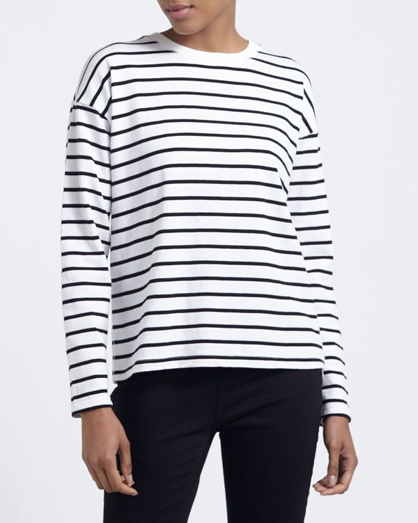 Stripe Sweat Top