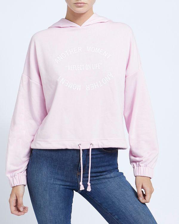Slogan Short Hoodie Sweatshirt