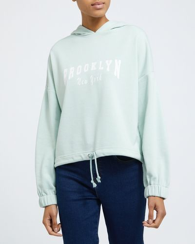 Hooded Slogan Sweatshirt