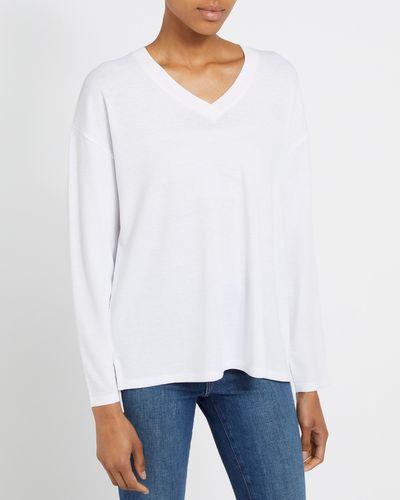Textured Long Sleeve Top