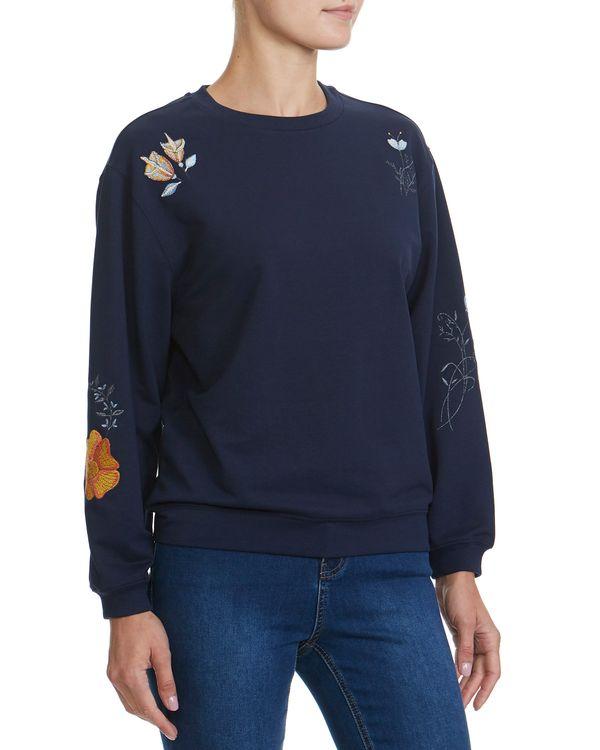 Lurex Flower Sweatshirt
