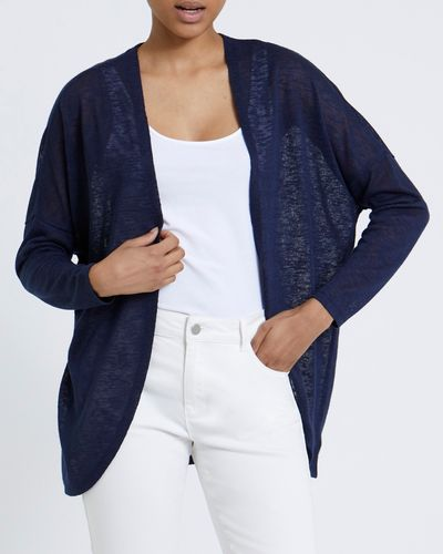 Lace Back Panel Cardigan