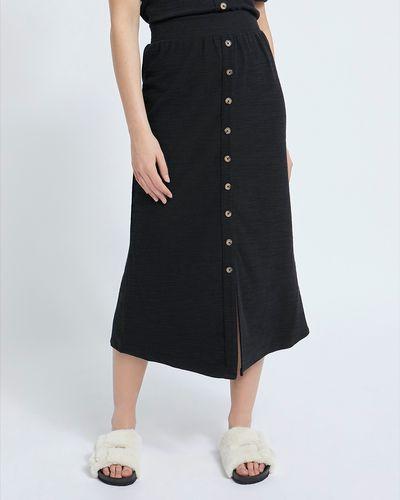 Midi Button Skirt