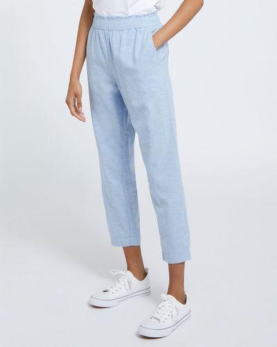 Linen Pull On Trousers thumbnail