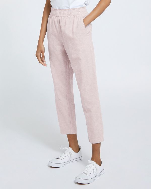 Linen Pull On Trousers