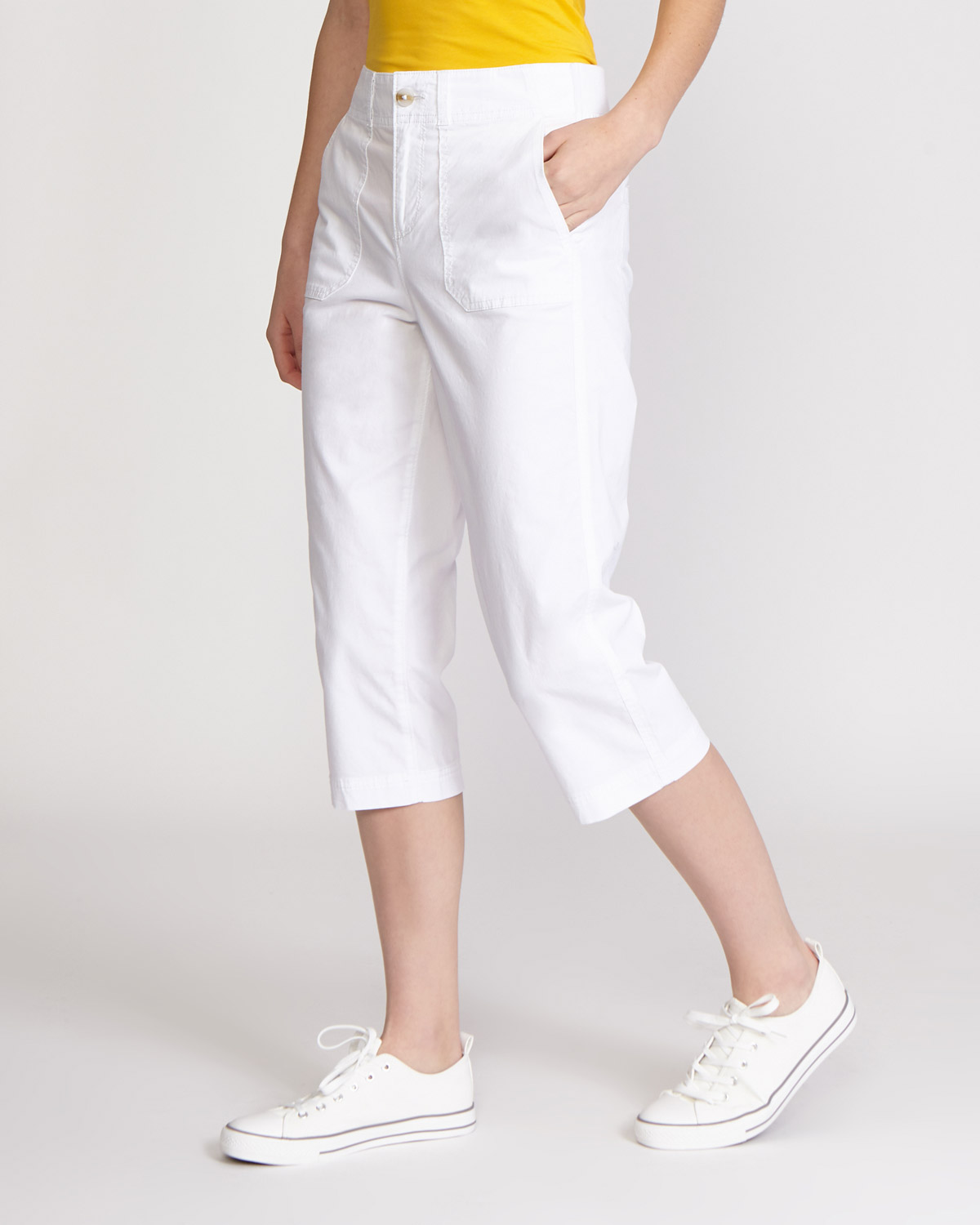 2018 shoes low priced incredible prices Dunnes Stores | White Poplin Cropped Trousers