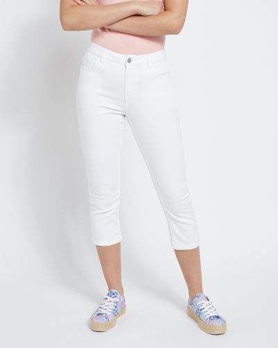 Skinny Crop Mid Rise Jeans