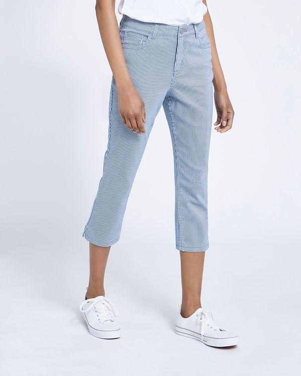 Stripe Crop Jeans