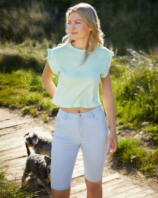 Stripe Knee Shorts
