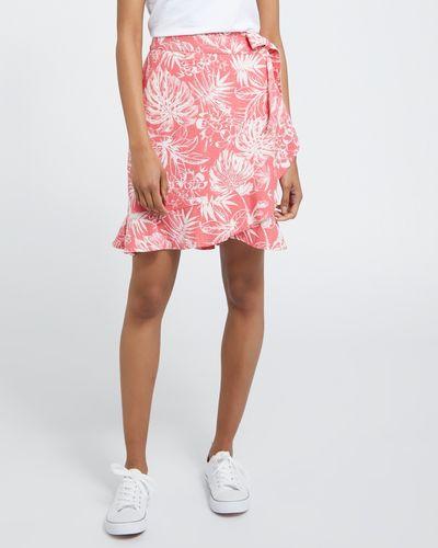 Wrap Linen Skirt