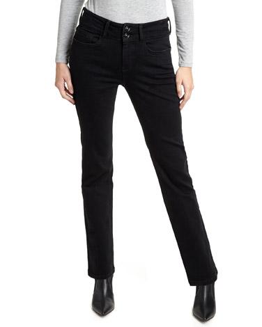 blackMid Rise Black Bootcut Fit Jeans