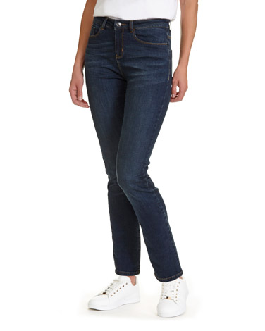 indigo Mid Rise Straight Fit Jeans