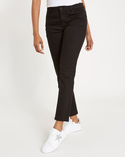 Kate Mid Rise Straight Fit Jeans