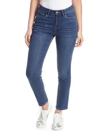 denim Kate Mid Rise Straight Fit Jeans