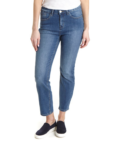 light-wash Kate Straight Fit Crop Jeans
