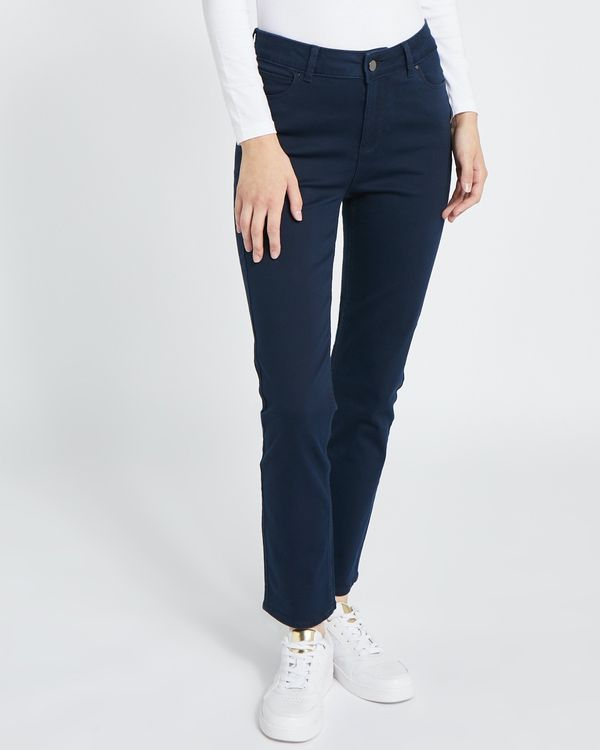 Straight Fit Mid Rise Jeans