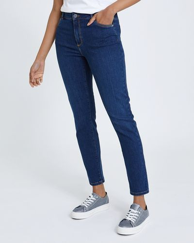 Kate Straight Indigo Mid Rise Jeans
