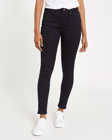 indigoJessie Mid Rise 360 Stretch Skinny Fit Jeans