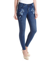 denim Embroidered Skinny Fit Jeans
