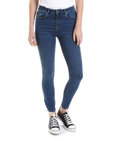 denimMid Rise Essential Skinny Fit Jeans