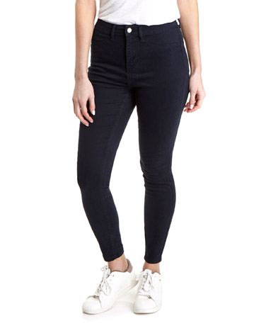 navyHolly High Rise Skinny Fit Jeans