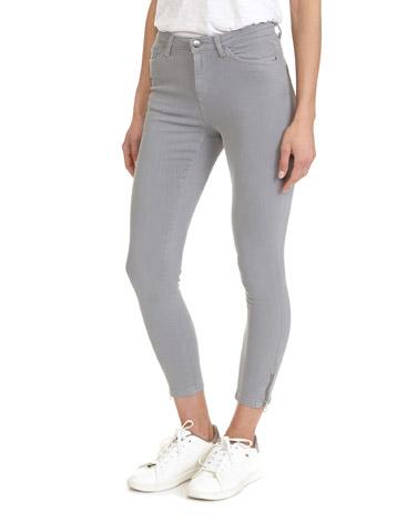 greyJessie Zipper Skinny Fit Jeans
