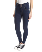 mid-wash Chloe High Waist Skinny Fit Jeans