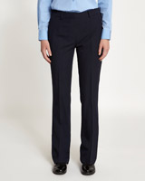 navy Zip Bootcut Trousers
