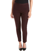 burgundy Cotton Stretch Twill Trousers