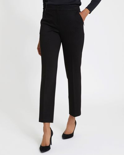 Elasticated Back Jacquard Ponte Trousers